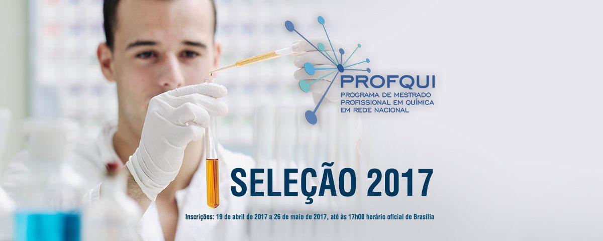 Edital Mestrado Profissional em Química em Rede Nacional